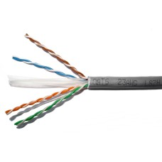 04ASL6353 - CAT6 CABLE 305M CCAM 4PR GREY 24AWG