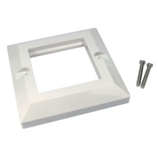 DataPro DUAL PORT BEVELLED FACE PLATE EURO SIZE 25MM X 50MM SUITABLE FOR 2 MODULES WHITE COLOUR