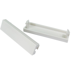 1/4 WHITE BLANKING PLATE 12.5MM X 50MM PACK OF 2