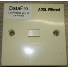 DATAPRO FILTERED BT FACE PLATE WITH INTEGRATED ADSL MICRO FILTER IN STANDARD BT BOX