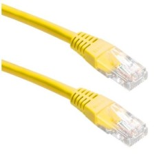 DataPro 0.5 METRE 50CM RJ45 UNSHIELDED CABLE YELLOW COLOUR CAT5E PATCH CORD STRAIGHT